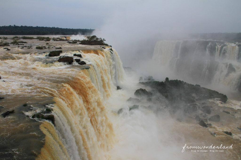 Les chutes d'Iguazu vue du dessus