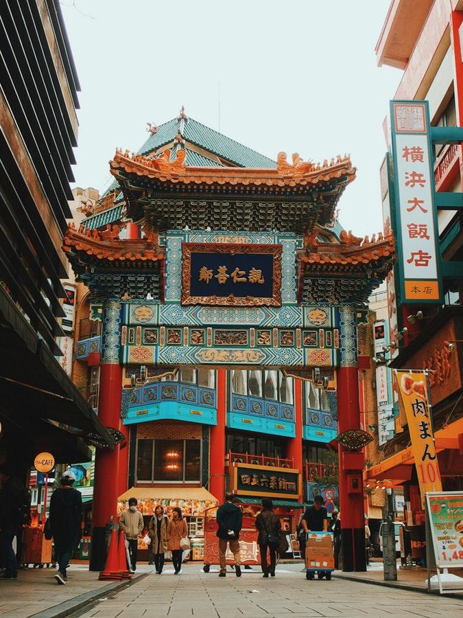 Temple dans les rues Chinoises