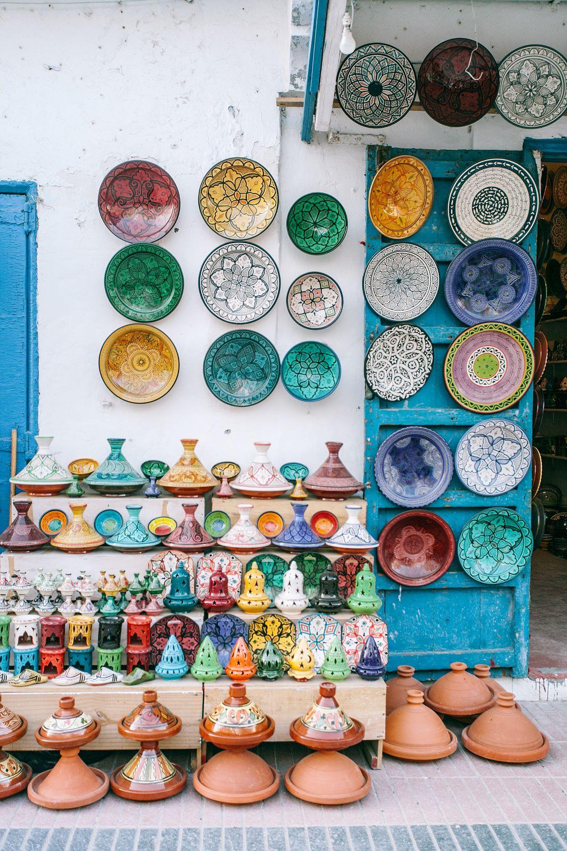 Potiers exposant au Maroc