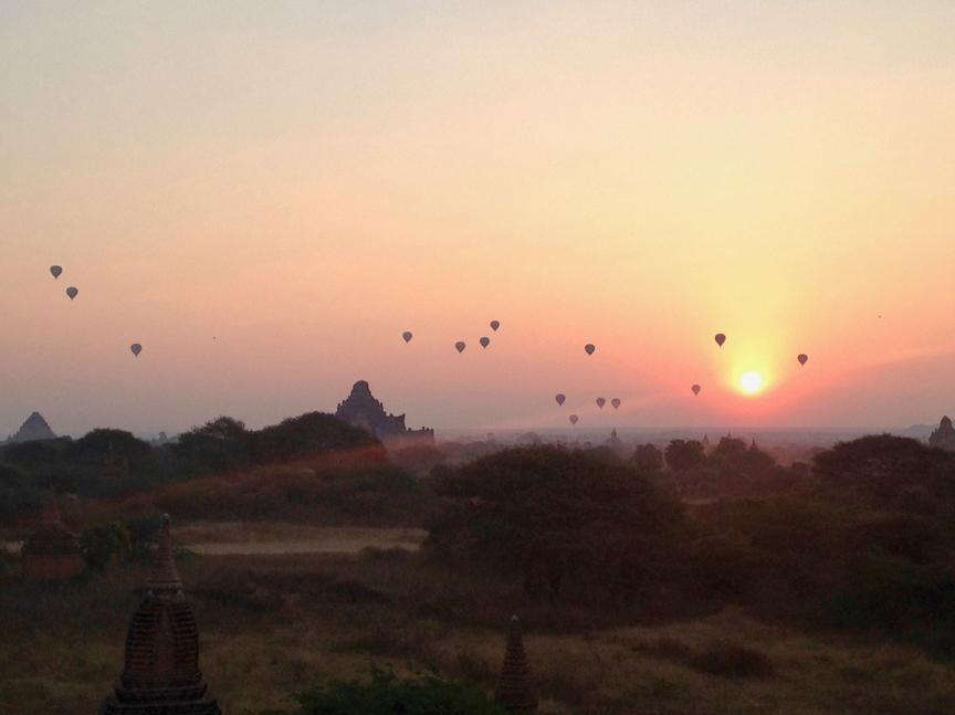 Mongolfières Bagan - Myanmar