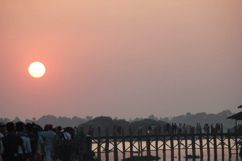 Pont en bambou - Myanmar
