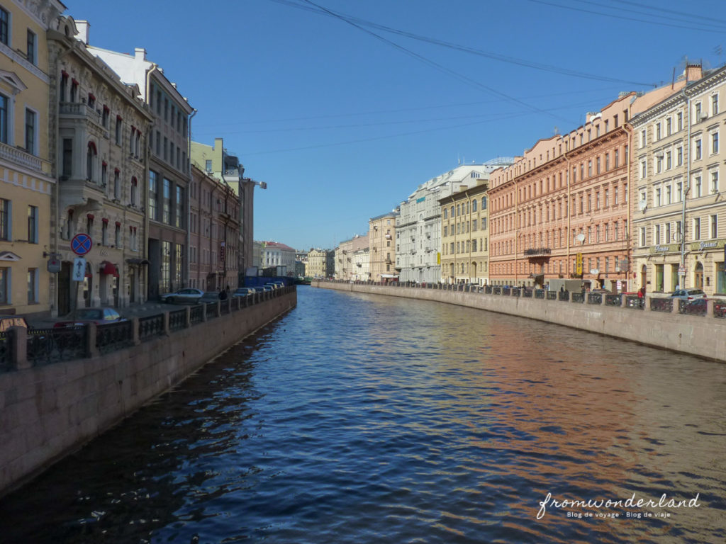 Les rues de Saint-Pétersbourg
