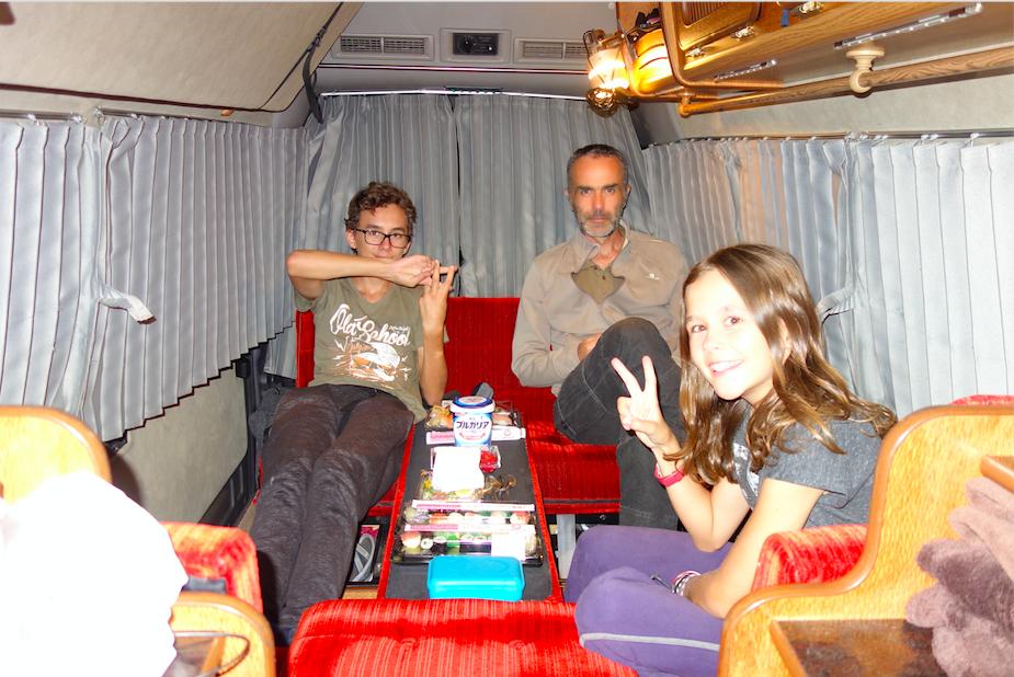 La famille dans le camping-car