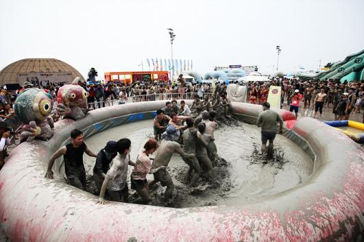 La course de la boue