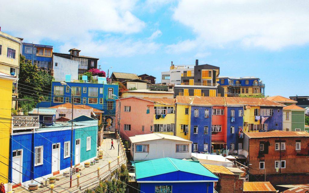 maisons colorées Valparaiso