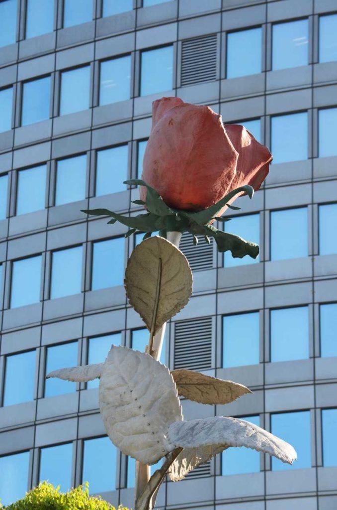Statue rose