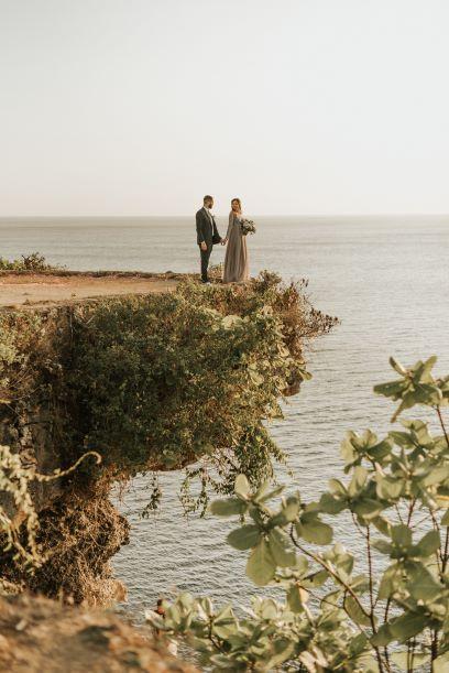 Sarah et Sofiane en tenue de marié