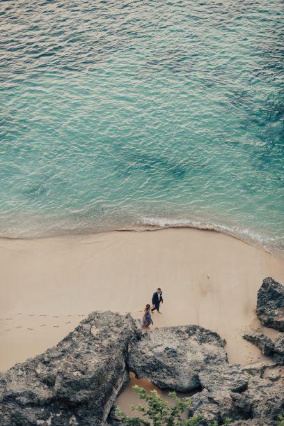 Sarah et Sofiane sur la plage