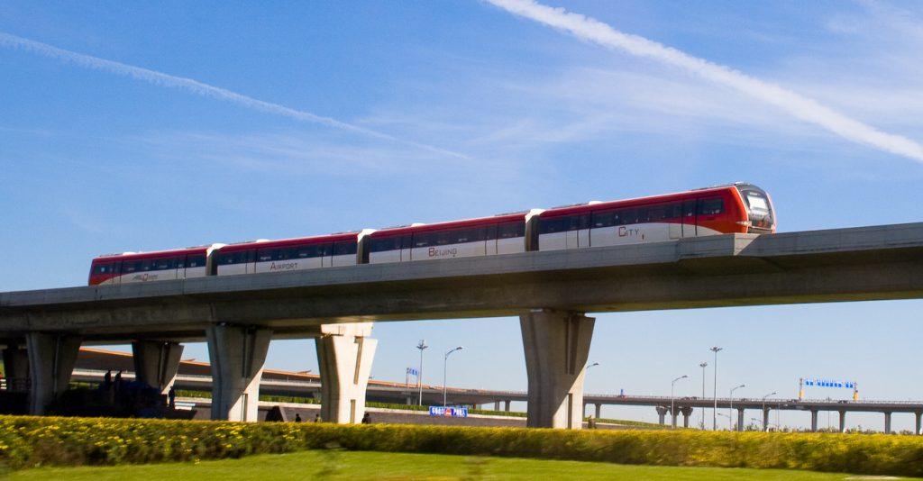 Le metro express de Pékin
