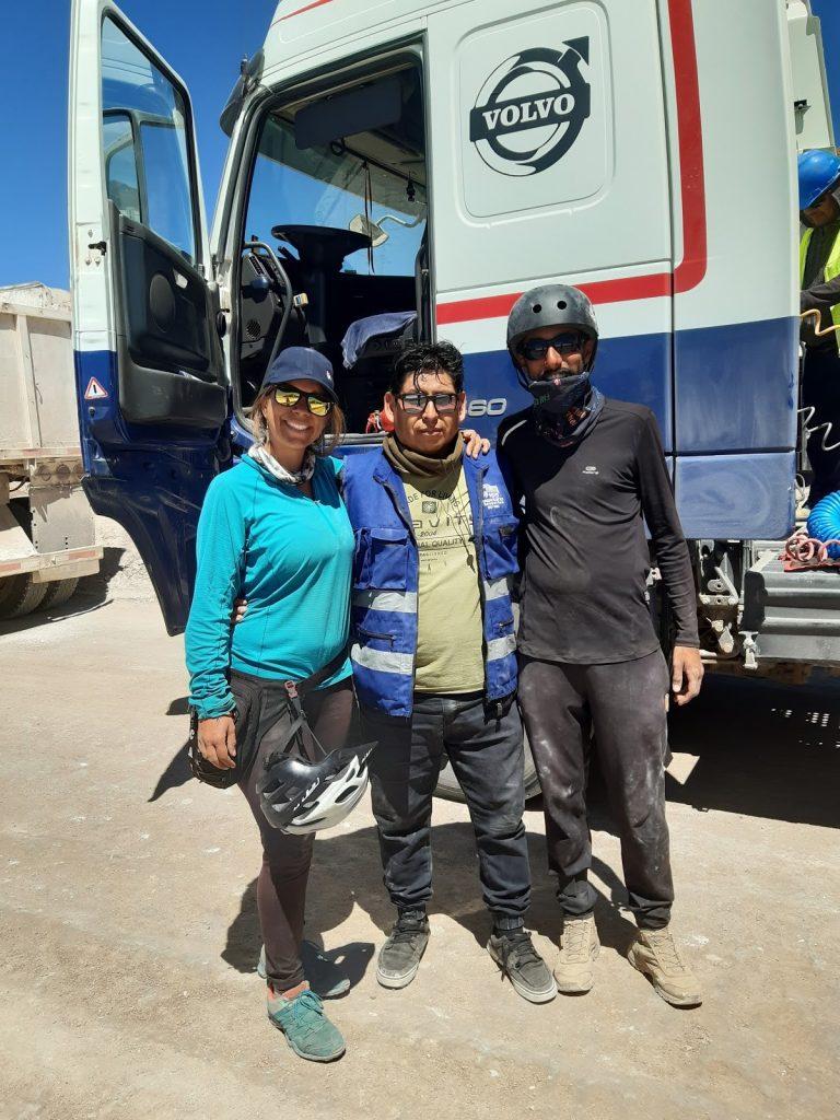 Photo avec Hector le chauffeur de camion