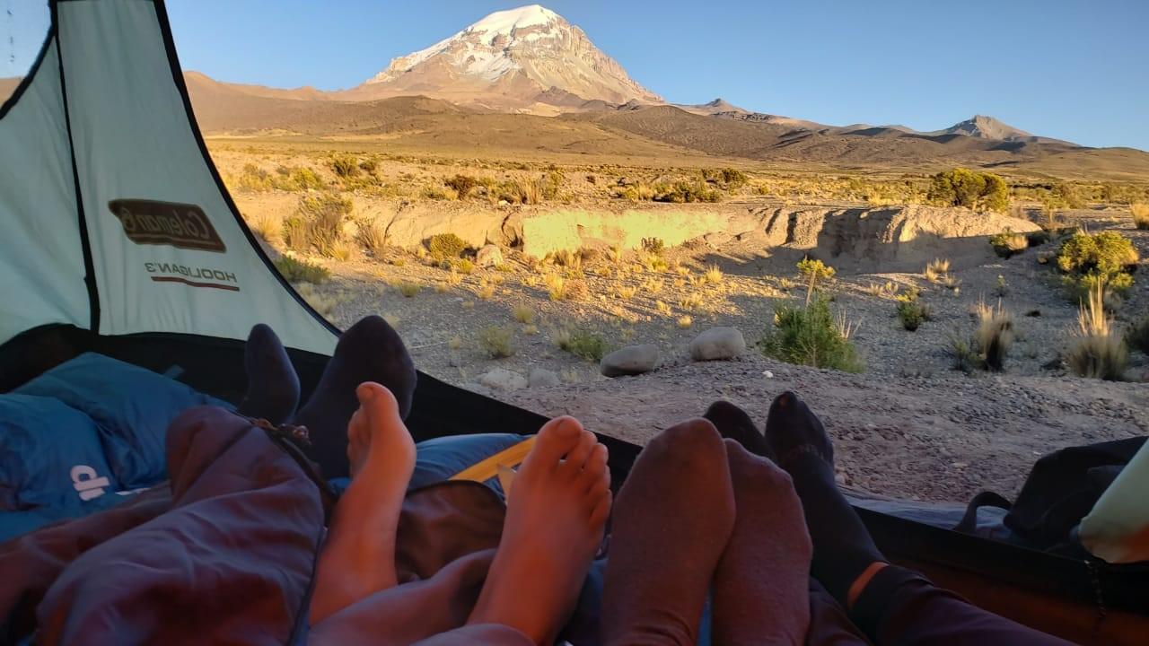 Vue sur le Mont Sajama au matin