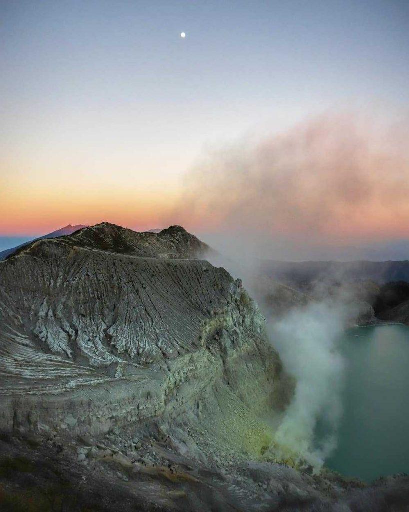 le Kawah Ijen en Indonésie