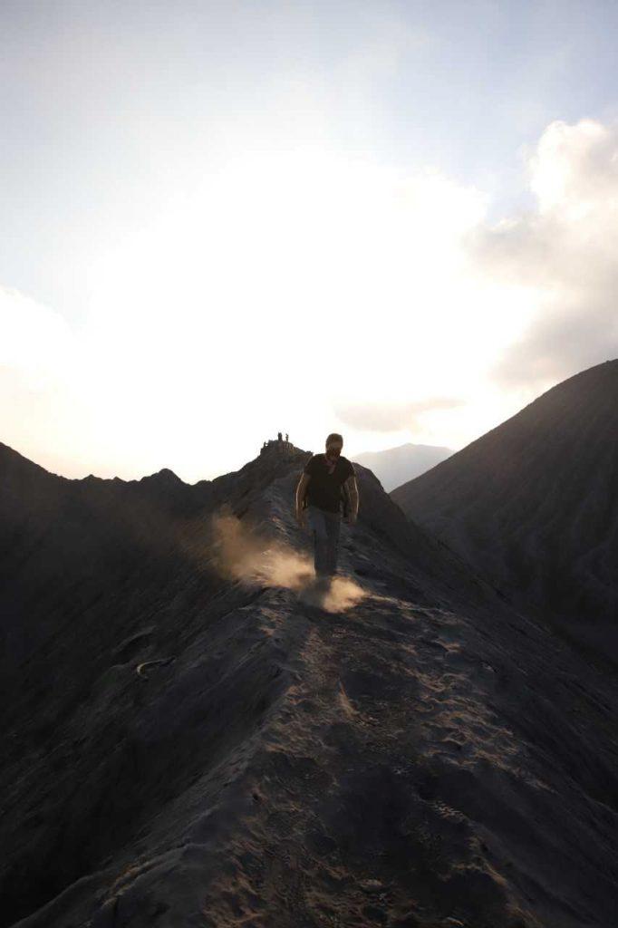 paysage lunaire sur le mont bromo