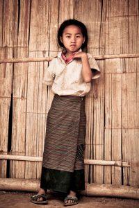 Petite fille de Luang Namtha