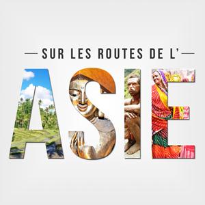 Sur les routes de l'asie logo podcast