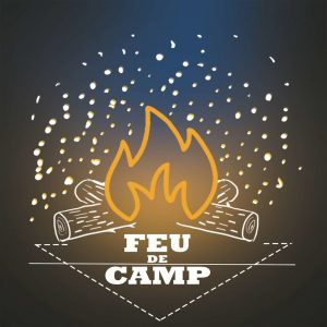Logo podcast feu de camp