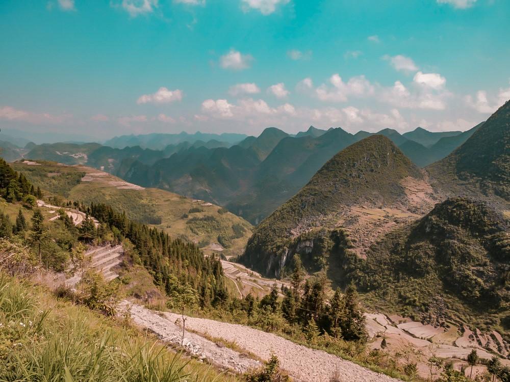 Vallée de Ha Giang ensoleillée