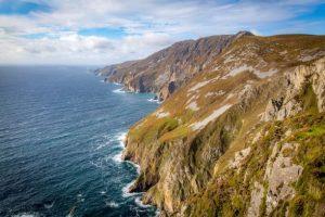 Les falaises de Slieve en Irlande