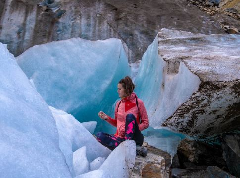 Le Glacier Chaaladi en Géorgie, très facile d'accès même sans matériel !