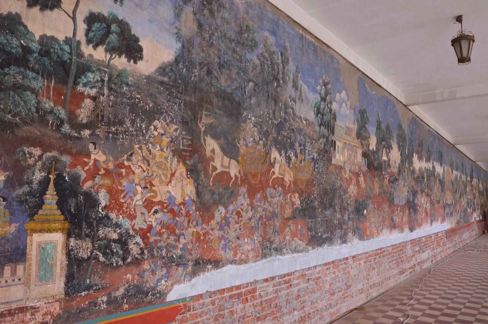 fresque palais royal de Phnom Penh