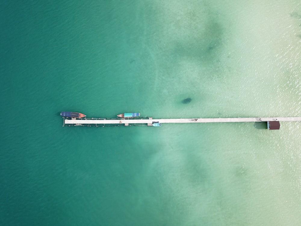 Vue drone des iles