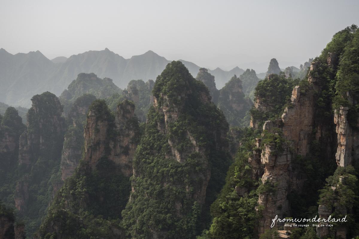 Autre point de vue sur les montagnes de Zhangjiajie