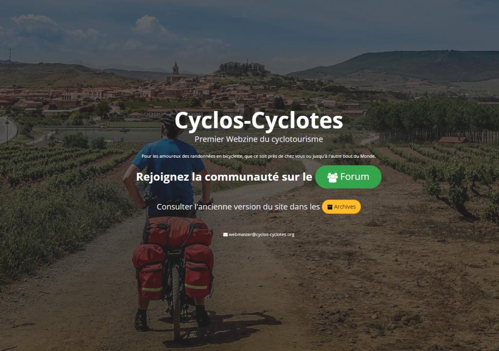 Page accueil Cyclos cyclotes