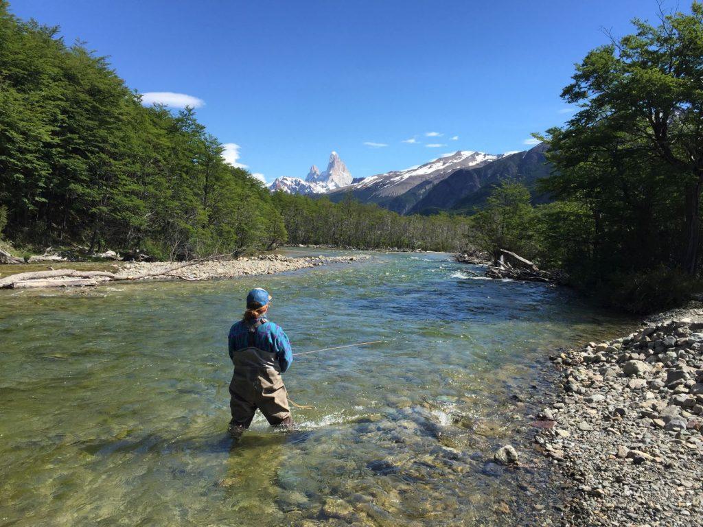 Pêche dans la rivière