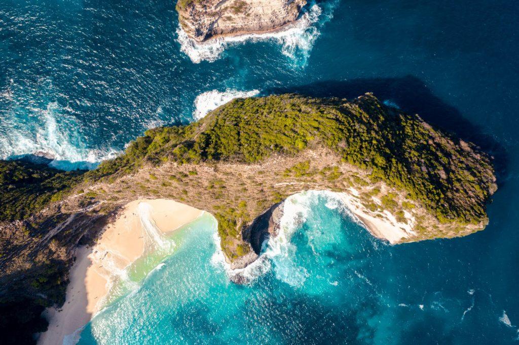 Nusa Penida vue du ciel