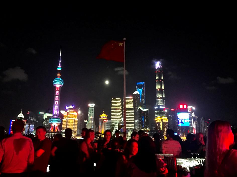 vue depuis le bar rouge de Shanghai