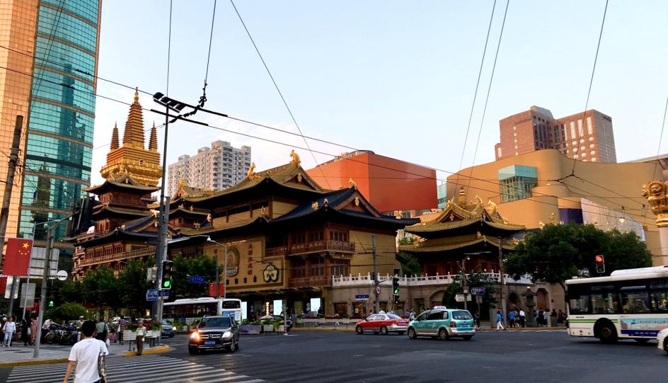 temple dans le centre de Shanghai