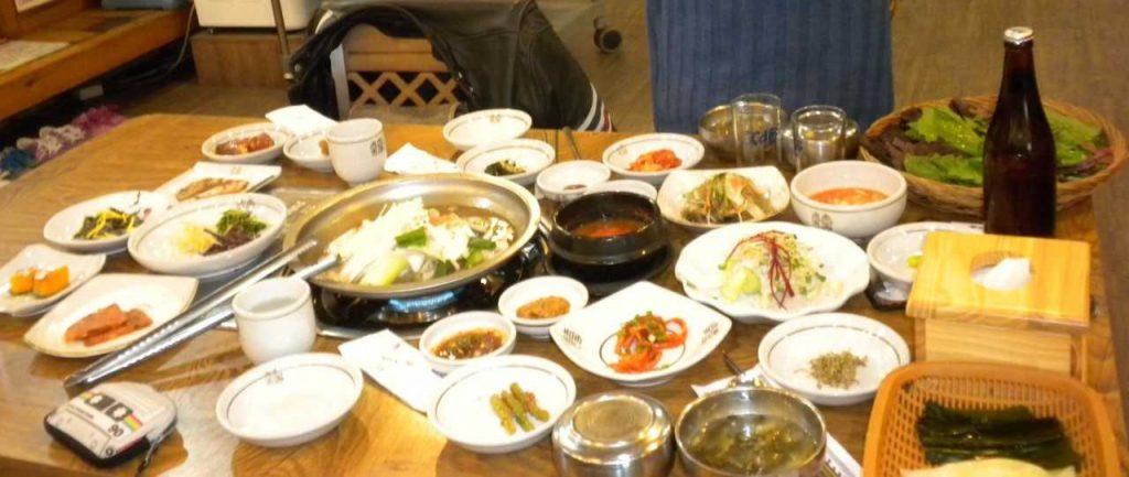 Les accompagnements en Corée