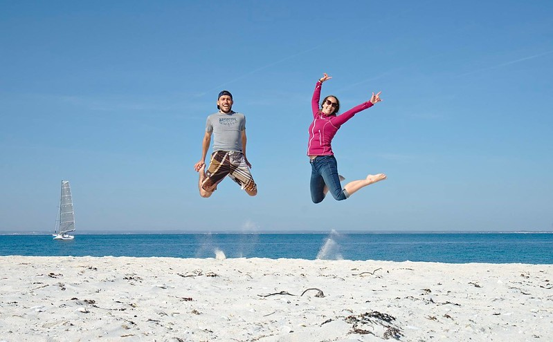Fab et Benoit sur la plage