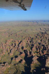 Vue aérienne sur le Purnululu National Park