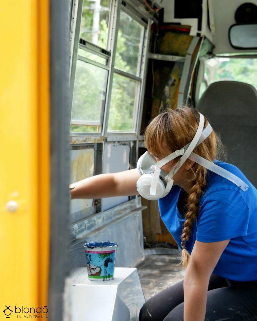 Retaper un bus scolaire