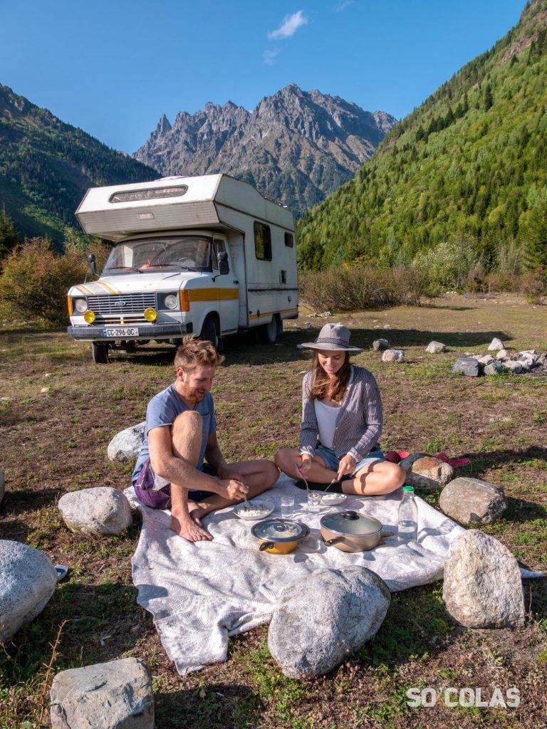 Cuisiner en camping-car en Géorgie